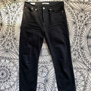 Black Levi's Wedgie Straight Jeans